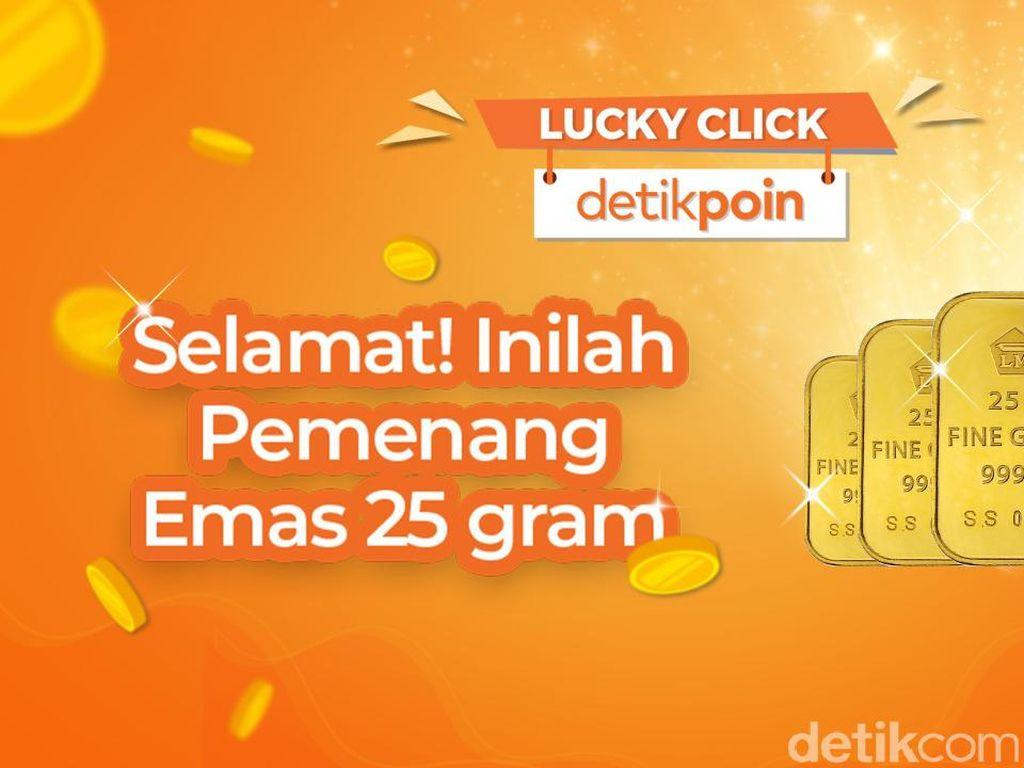 Selamat! Ini Dia Pemenang Hadiah Emas 25 Gram Lucky Click detikPoin
