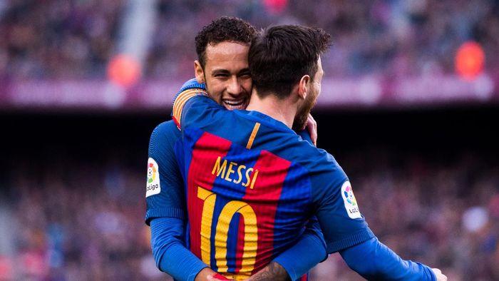 Neymar dan Lionel Messi