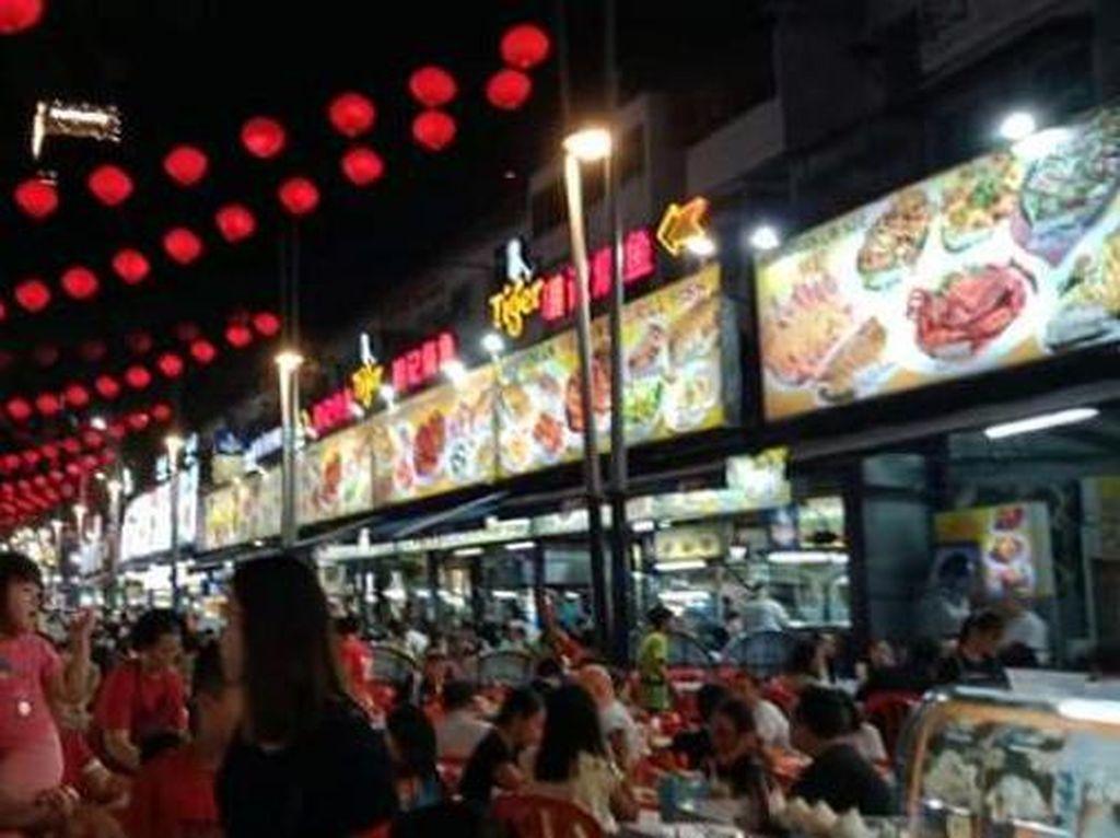Sebelum Corona Mewabah, Begini Suasana Malam Jalan Alor Kuala Lumpur