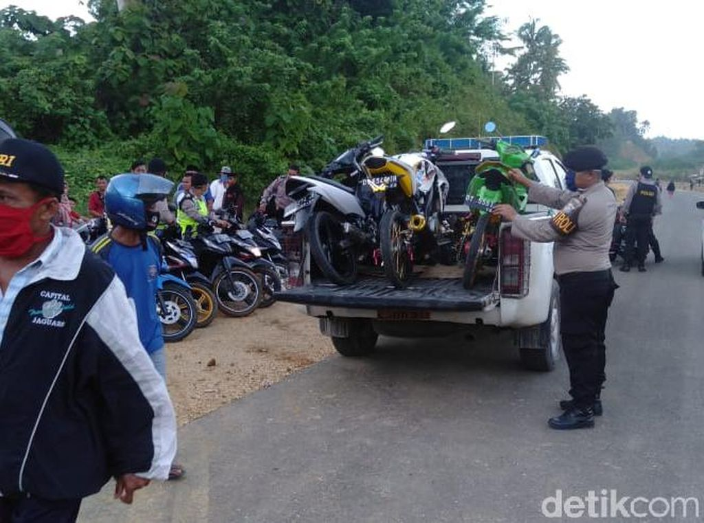 Polisi Grebek Balap Liar Dekat Kantor Walkot Palopo, Motor Pelat Merah Disita