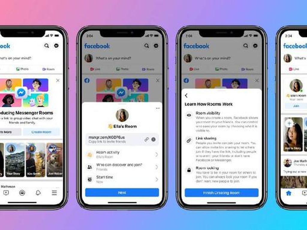 Messenger Rooms Meluncur Secara Global, Siap Tantang Zoom