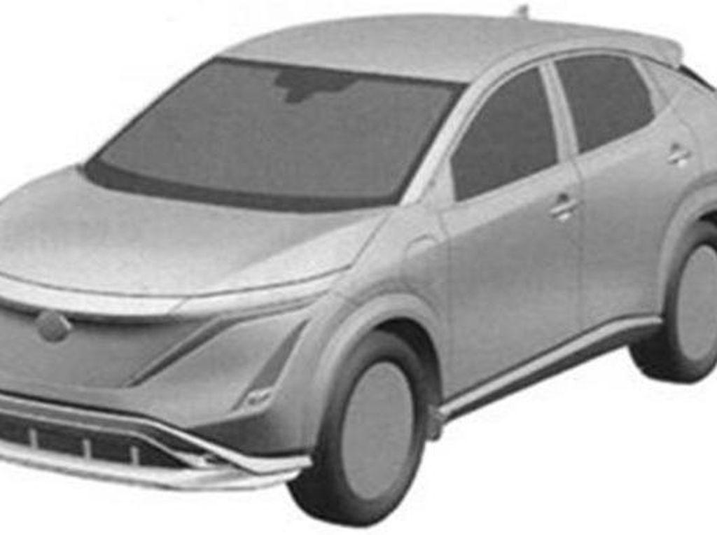 Sketsa Paten Bocor, Nissan Ariya Segera Diproduksi Massal?