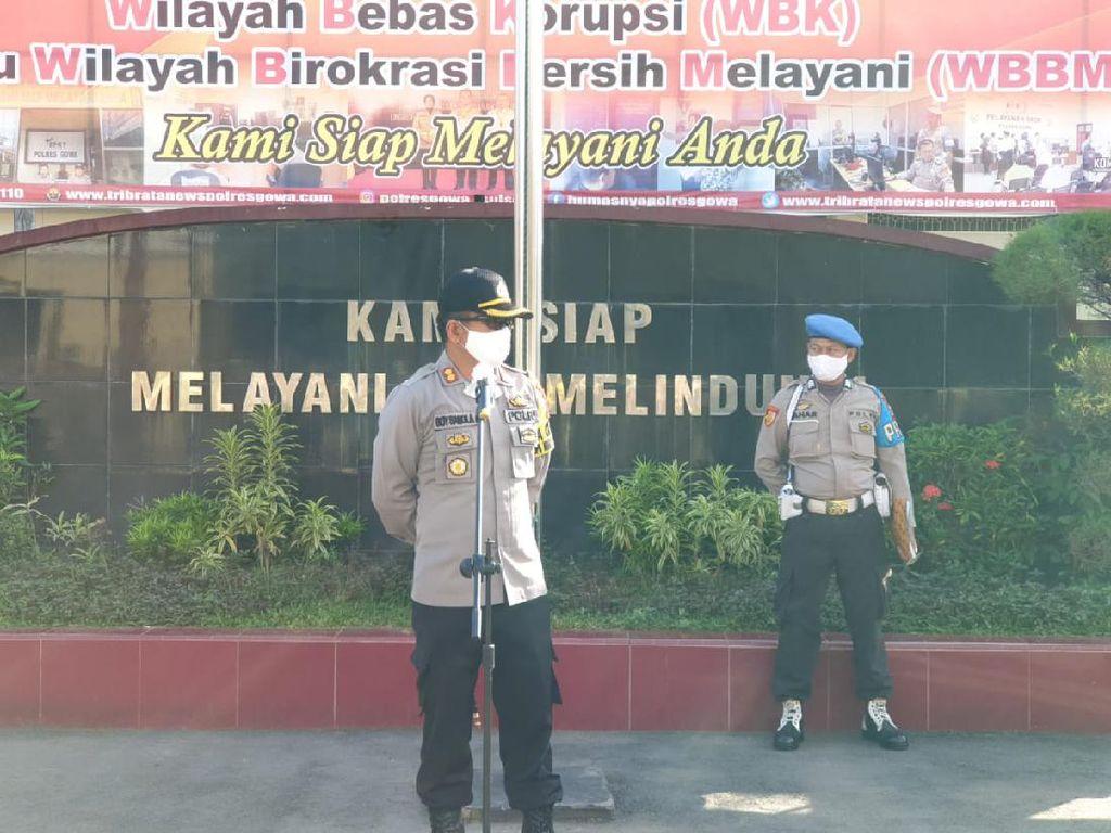 PSBB Ditunda, Polres Gowa Tetap Lakukan Uji Coba di Sejumlah Kecamatan