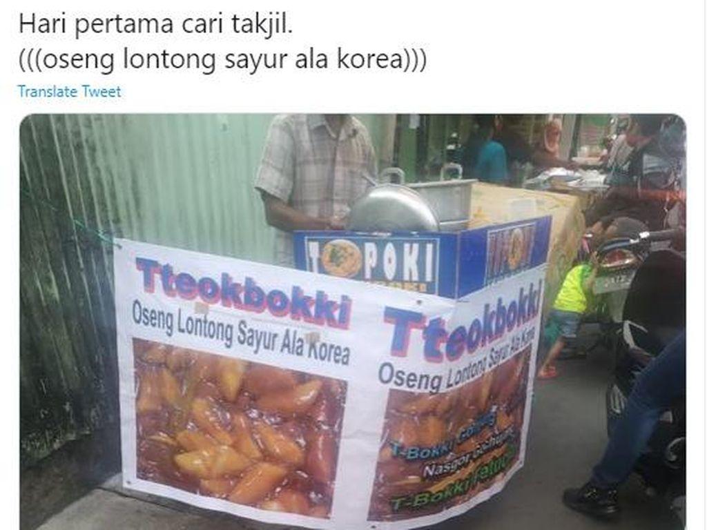 Viral! Penjual Tteokbokki Namai Produknya Oseng Lontong Sayur Ala Korea
