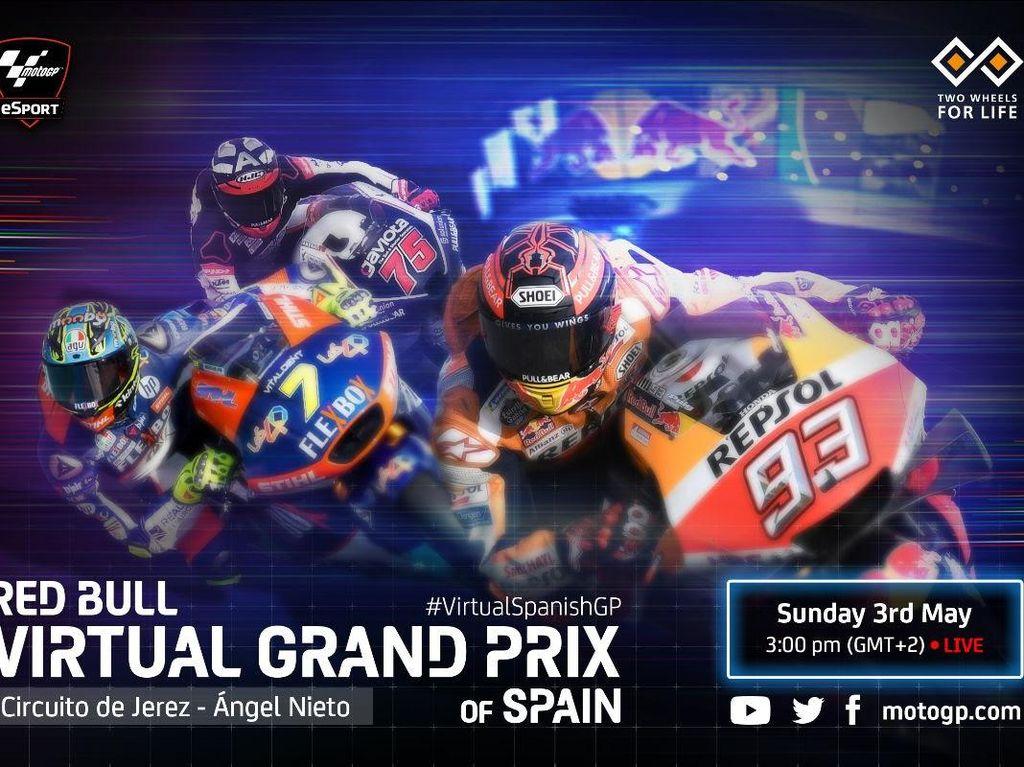 Jadwal MotoGP Virtual Race Akhir Pekan Ini dan Para Ridernya