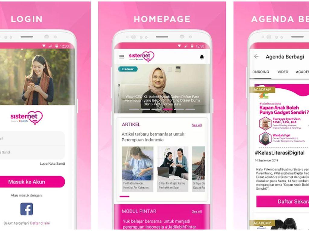 Dorong Literasi Digital, XL Luncurkan Aplikasi Sisternet