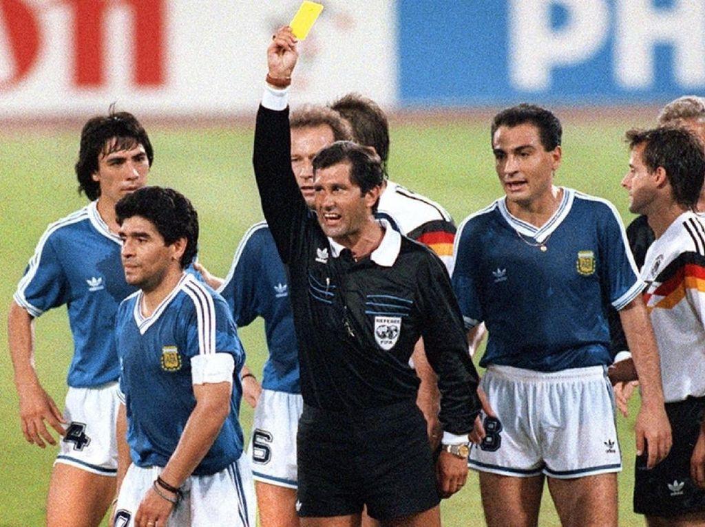 Wasit Final Piala Dunia 1990 Masih Kesal Betul dengan Maradona