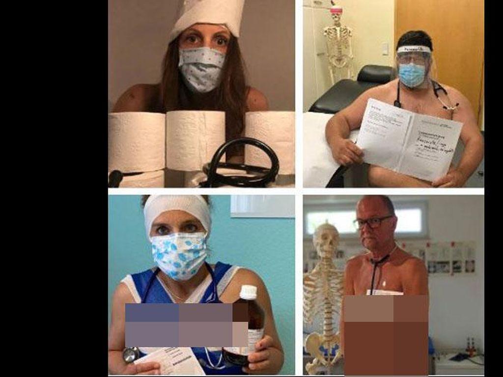 Protes Kekurangan APD, Dokter di Jerman Ramai-ramai Pose Telanjang