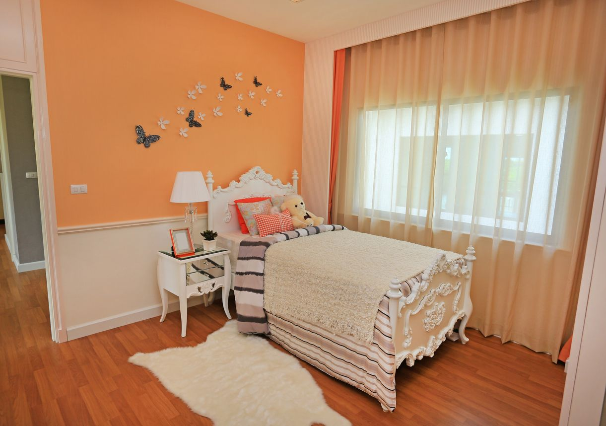 Modern interior of the child's bedroom.