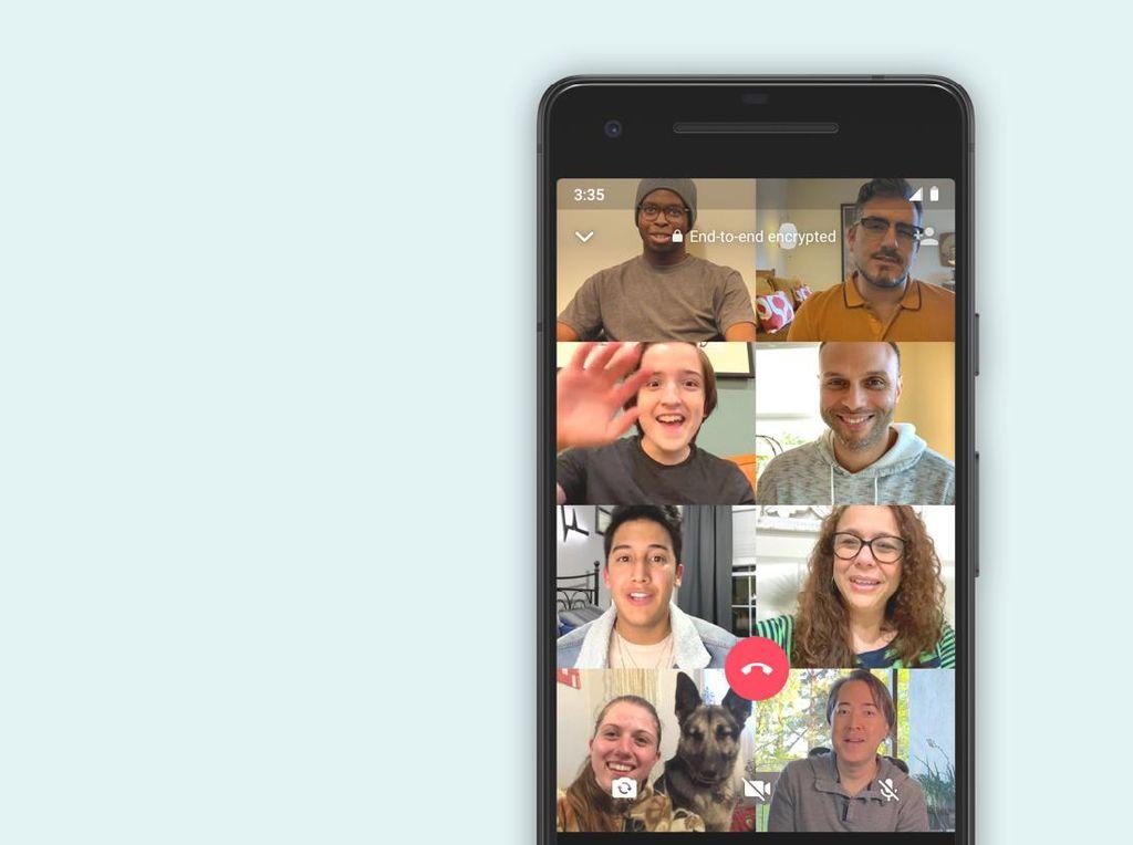 Cara Lakukan Video Call WhatsApp hingga 8 Orang