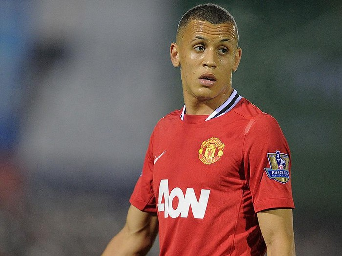 ALDERSHOT, ENGLAND - OCTOBER 25:  Ravel Morrison of Manchester United looks on during the Carling Cup fourth round match between Aldershot Town and Manchester United at the EBB Stadium, Recreation Ground on October 25, 2011 in Aldershot, England.  (Photo by Michael Regan/Getty Images)