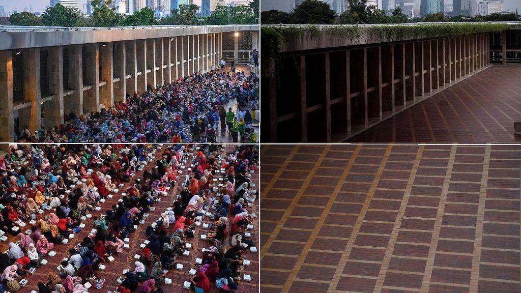Potret Bukber di Istiqlal Sebelum dan Saat Corona