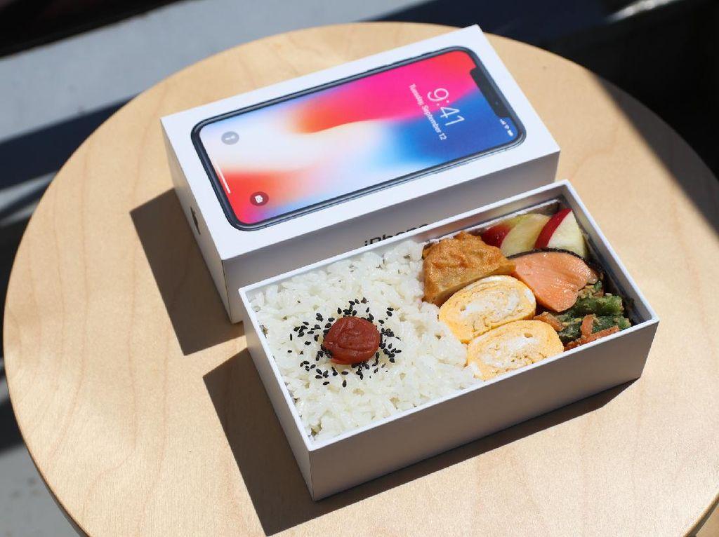 Nyeleneh! Netizen Ini Pakai Kardus Handphone Sebagai Kotak Makan