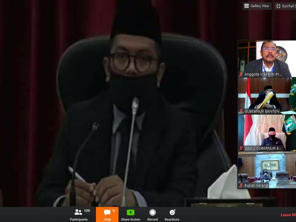 Pertama Kalinya LHP LKPD Banten Diserahkan Lewat Video Conference