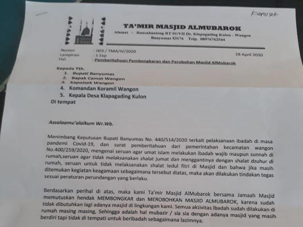 Viral Surat Bongkar Masjid di Banyumas, MUI: Beragama dengan Iman dan Ilmu