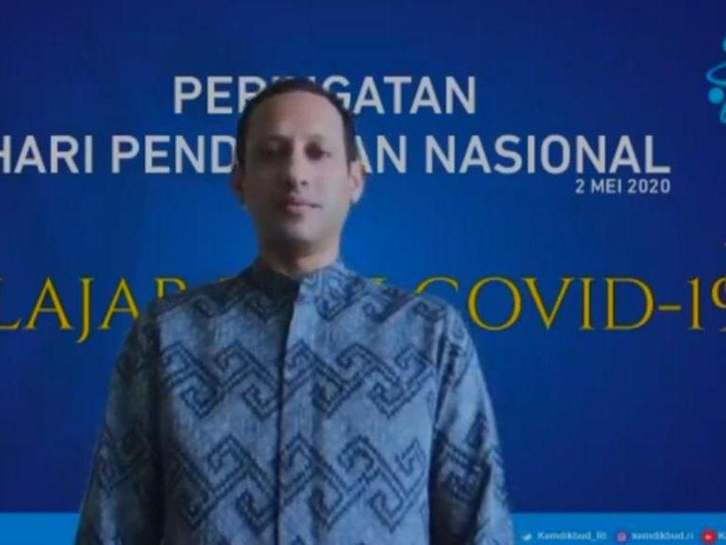Pimpin Upacara Hardiknas Virtual, Nadiem Ungkap Hikmah Pandemi COVID-19