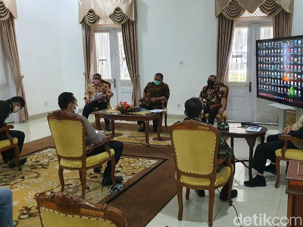PSBB Parsial, Pemkab Sukabumi Siapkan Skema Bansos-Polisi Siapkan Beras 10 Ton