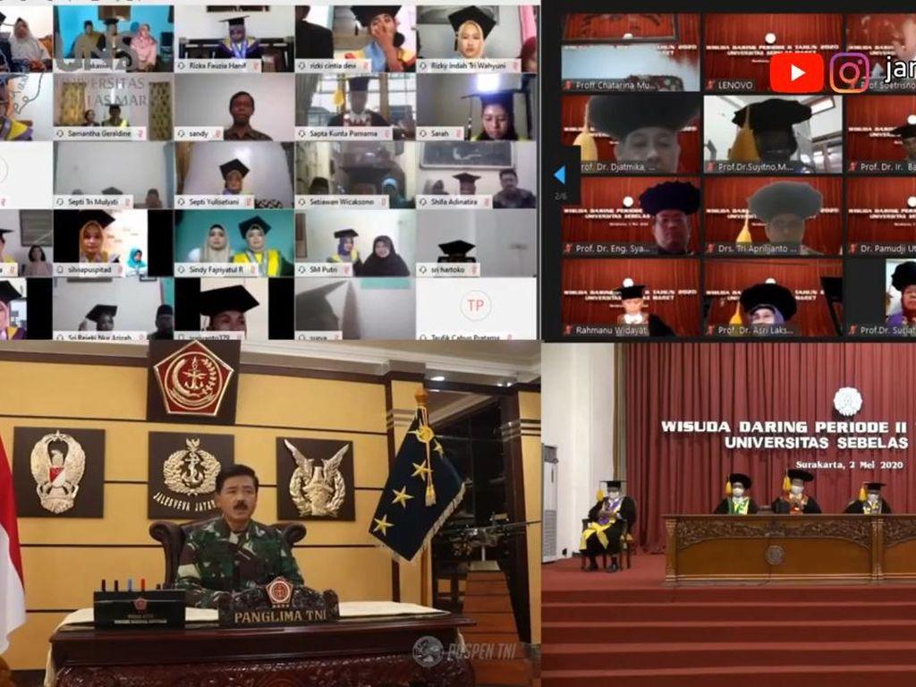 Pertama Kali! UNS Gelar Wisuda Via Online dan Diikuti Panglima TNI