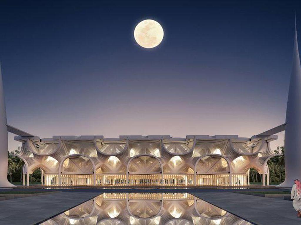 Pesona Masjid Bermandikan Cahaya di Dubai