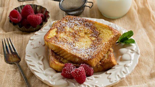 Sisa roti tawar bisa diolah menjadi french toast