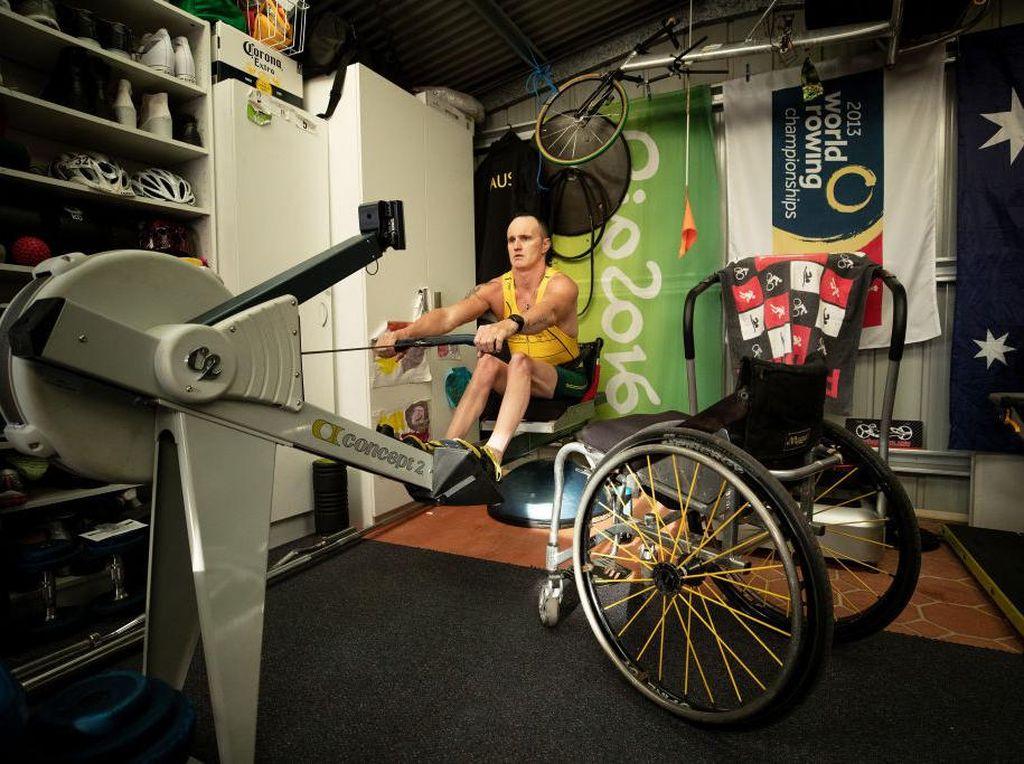 Potret Atlet Difabel Australia Berlatih di Tengah Isolasi Corona