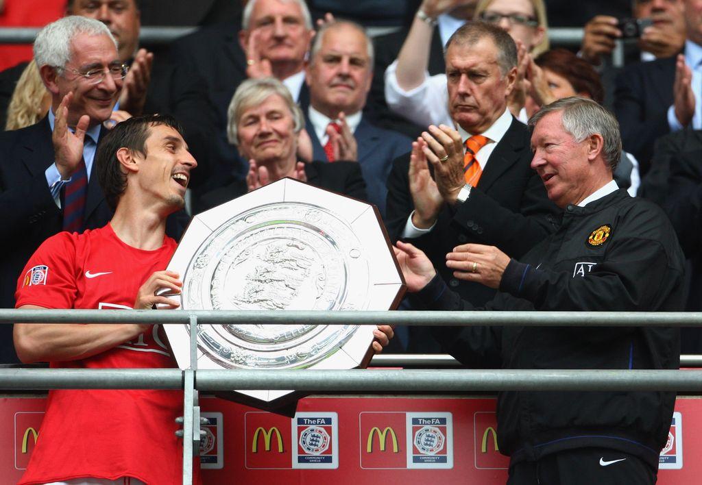 Gary Neville dan Sir Alex Ferguson