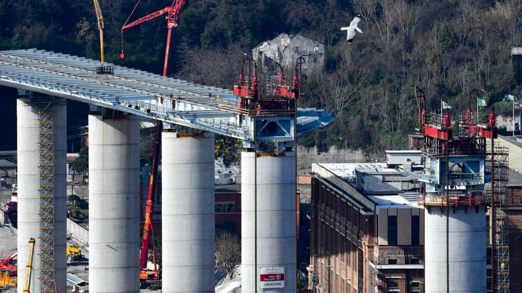 Potret Pengganti Jembatan Italia yang Runtuh 2018
