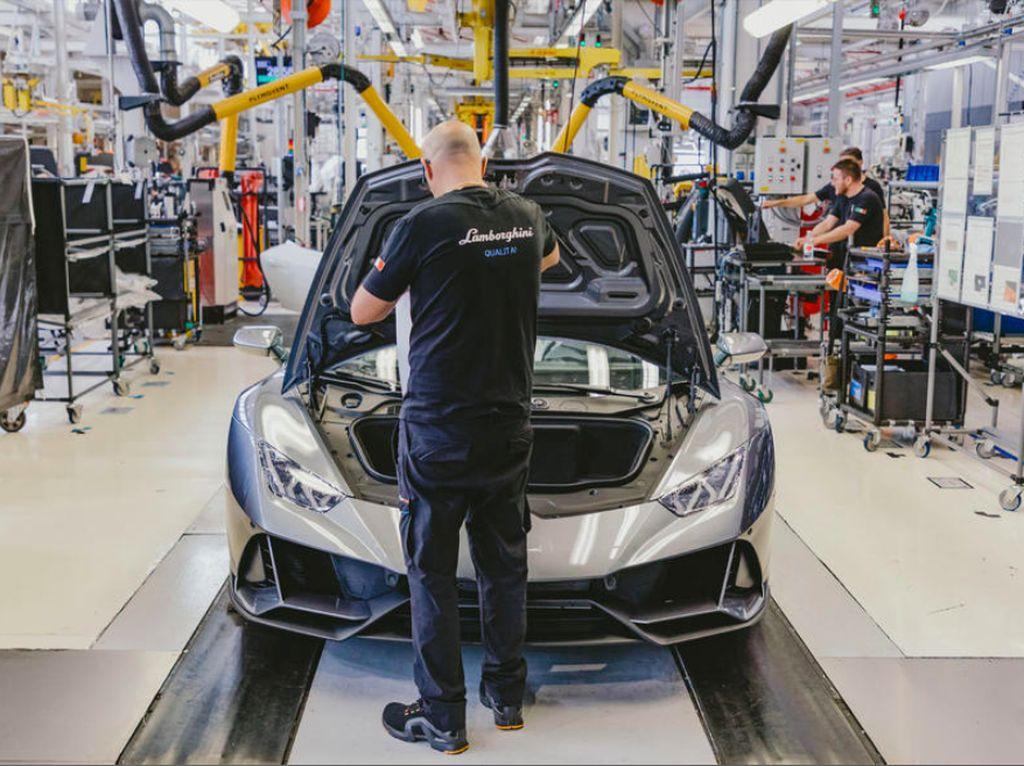 Pabrik Lamborghini Mulai Ngebul Lagi 7 Mei 2020