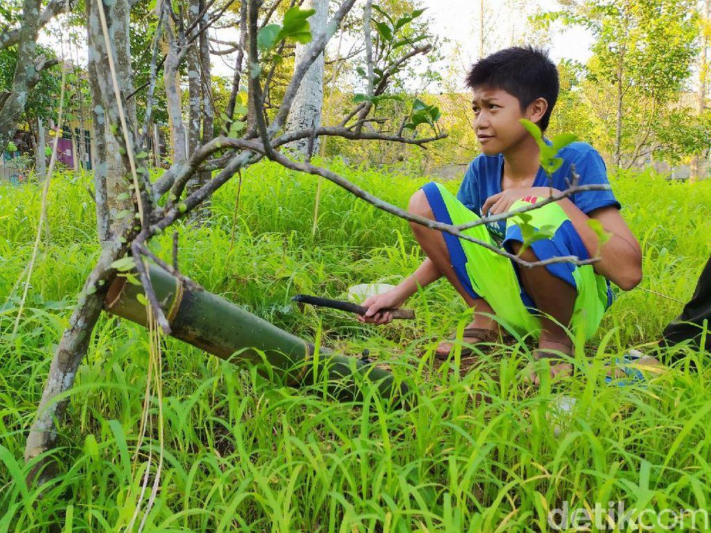 Sensasi Dentuman Meriam Bambu