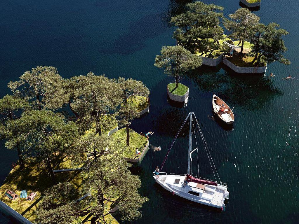 Denmark Punya Taman Terapung di Atas Pulau Buatan