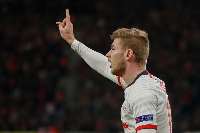 Leipzigs German forward Timo Werner reacts after his goal was called offside during the UEFA Champions League football match between RB Leipzig and Tottenham Hotspur, in Leipzig, eastern Germany on March 10, 2020. (Photo by Odd ANDERSEN / AFP)