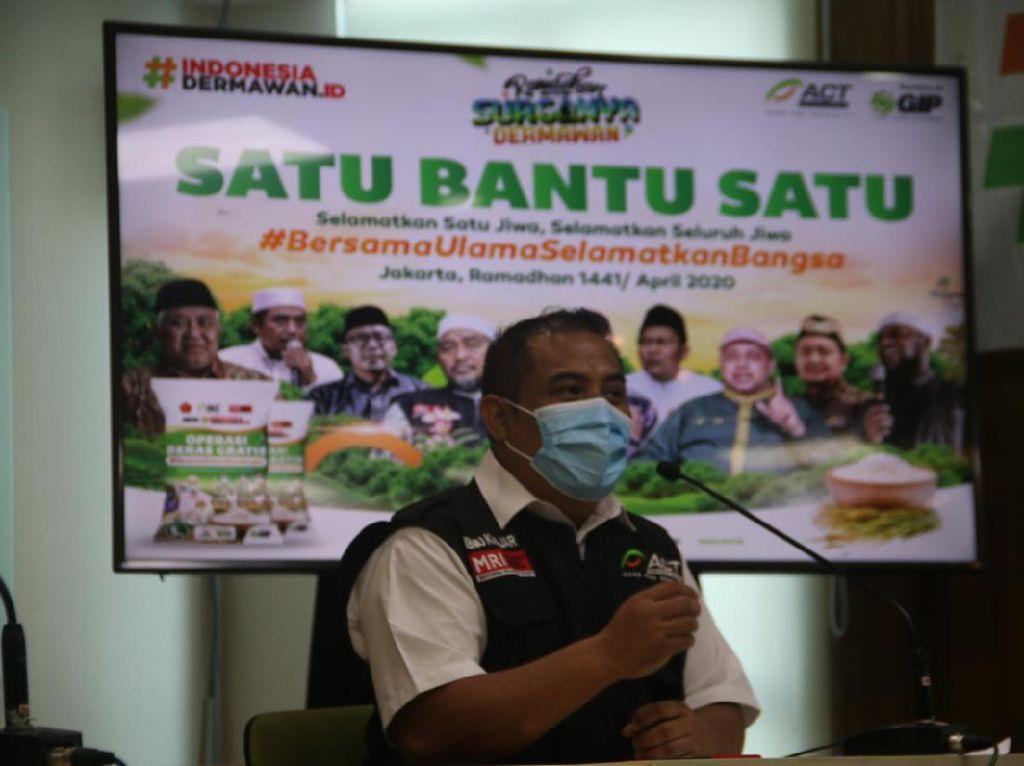 Redam Dampak Corona, ACT Bareng Ulama Gelorakan Gerakan Satu Bantu Satu