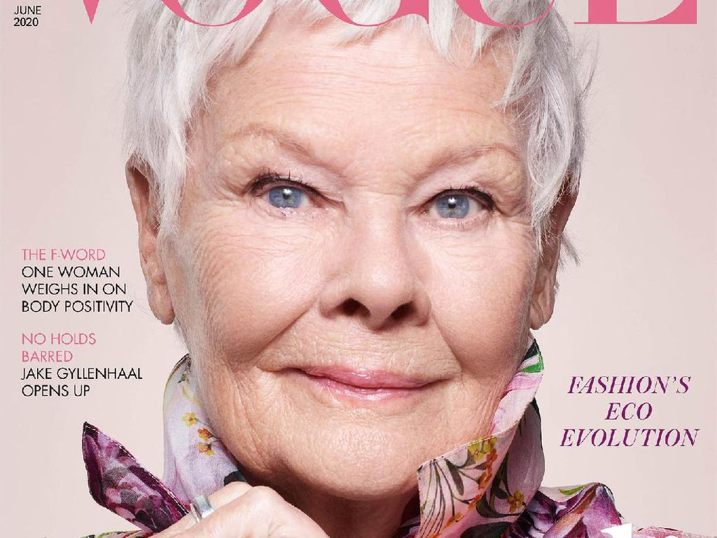 Judi Dench Ukir Prestasi di Usia 85, Jadi Model Tertua di Cover Vogue