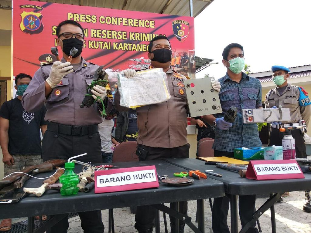 Kawanan Pencuri Baterai Menara BTS dI Kukar Kaltim Ditangkap