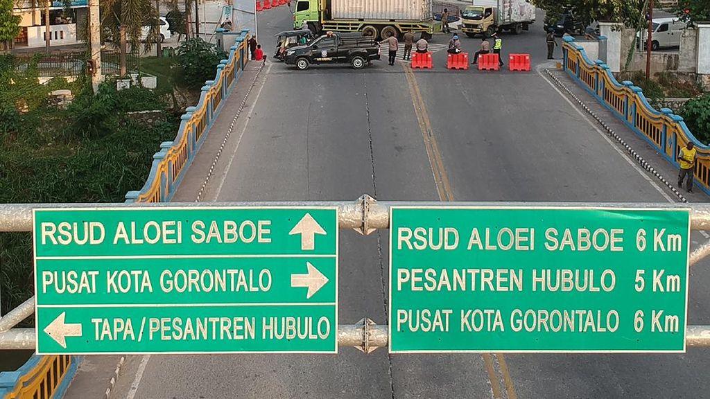 PSBB di Gorontalo, Jalan-jalan Utama juga Ditutup