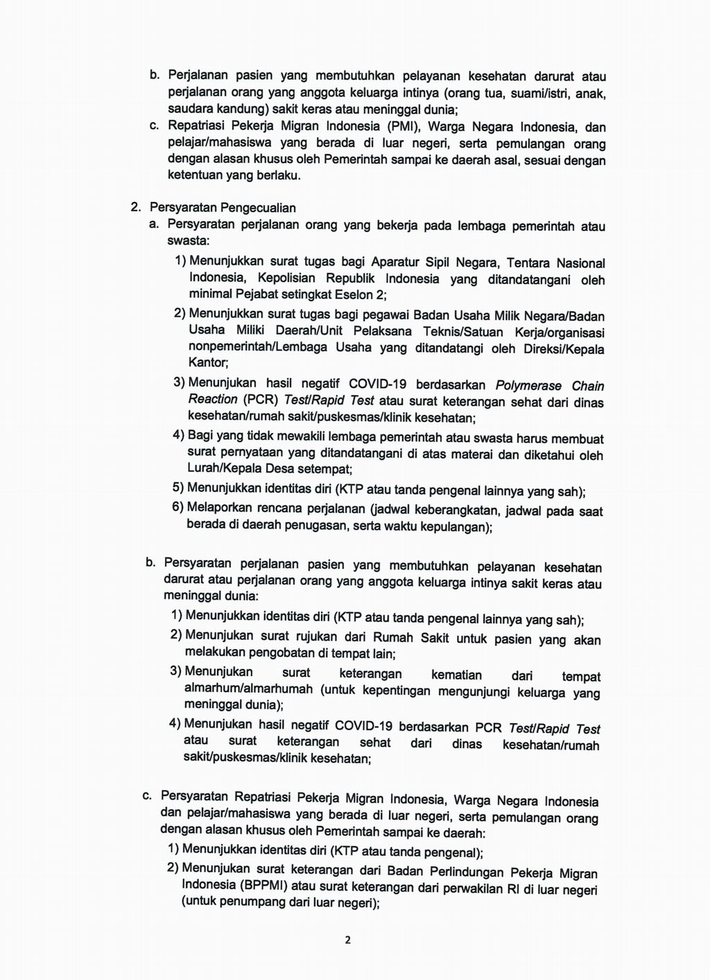 Surat Edaran Gugus Tugas Penanganan COVID-19.
