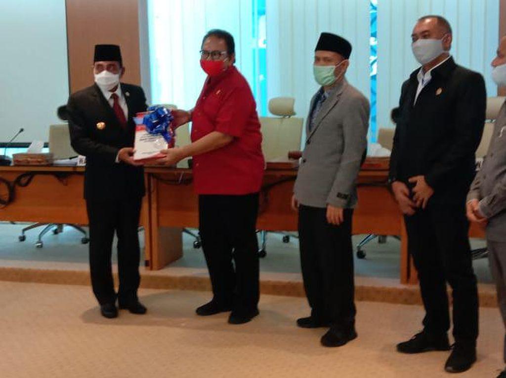 Serahkan LKPJ 2019, Gubsu Edy Pamer Penurunan Stunting di Sumut