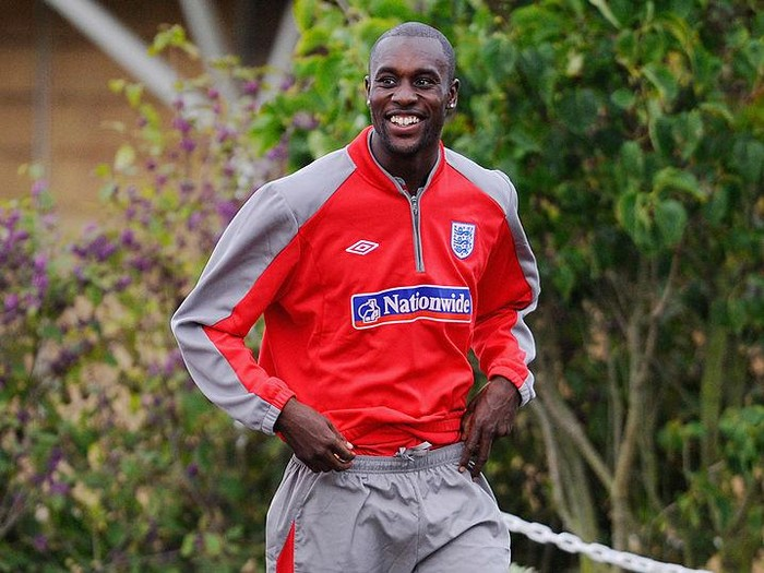 ST ALBANS, ENGLAND - OCTOBER 06: Carlton Cole makes his way out to the England training session at London Colney on October 6, 2009 in St Albans, England.  (Photo by Michael Regan/Getty Images)