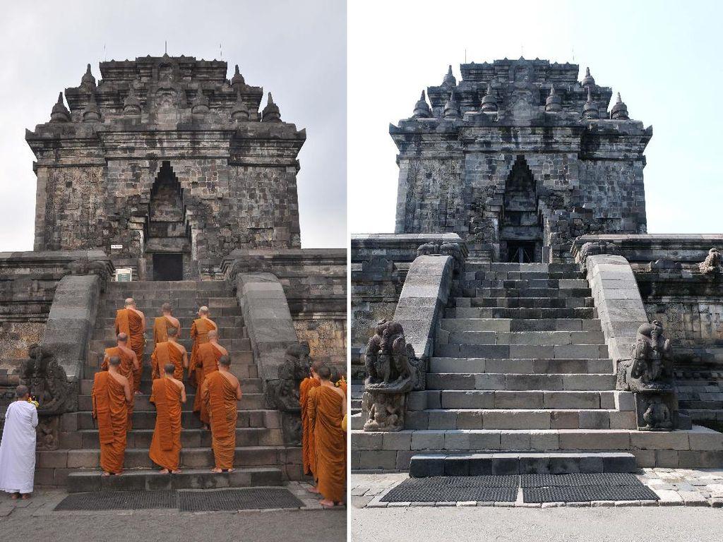 Perayaan Waisak di Candi Borobudur Sebelum dan Sesudah Corona