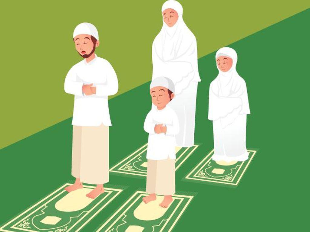 Survei Median: 52,6% Publik Setuju Salat Idul Fitri Dilaksanakan di Rumah