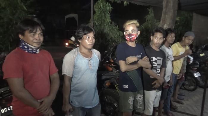 7 Orang diamankan karena pesta miras dan hendak balap liar saat PSBB di Makassar.