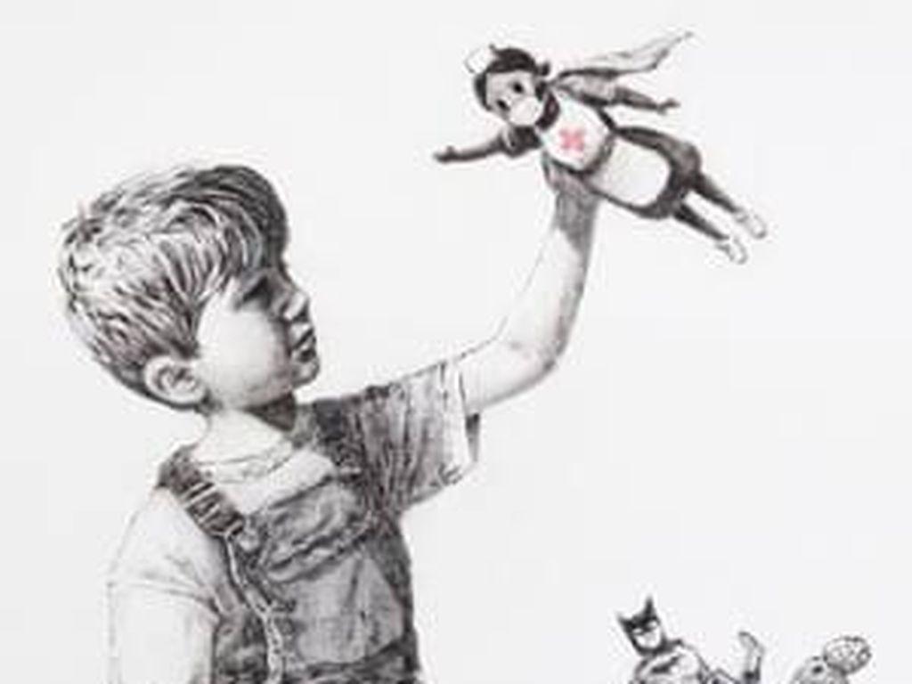 Lukisan Banksy untuk Tenaga Medis Inggris Akan Dilelang Rp 20 Miliar