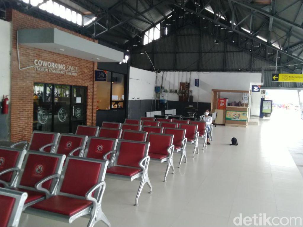 Menengok Sepinya Stasiun Tawang Semarang Tanpa Calon Penumpang
