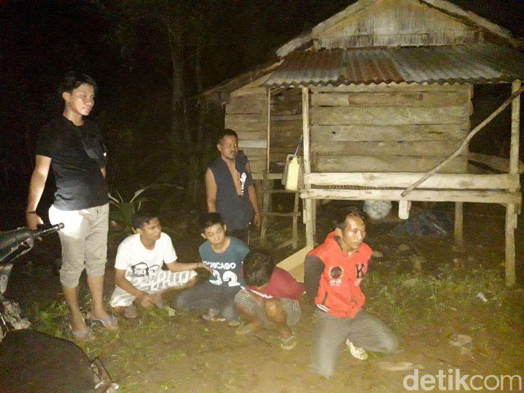 Polisi Gerebek Judi di Area Perkebunan Polman, 4 Warga Diamankan