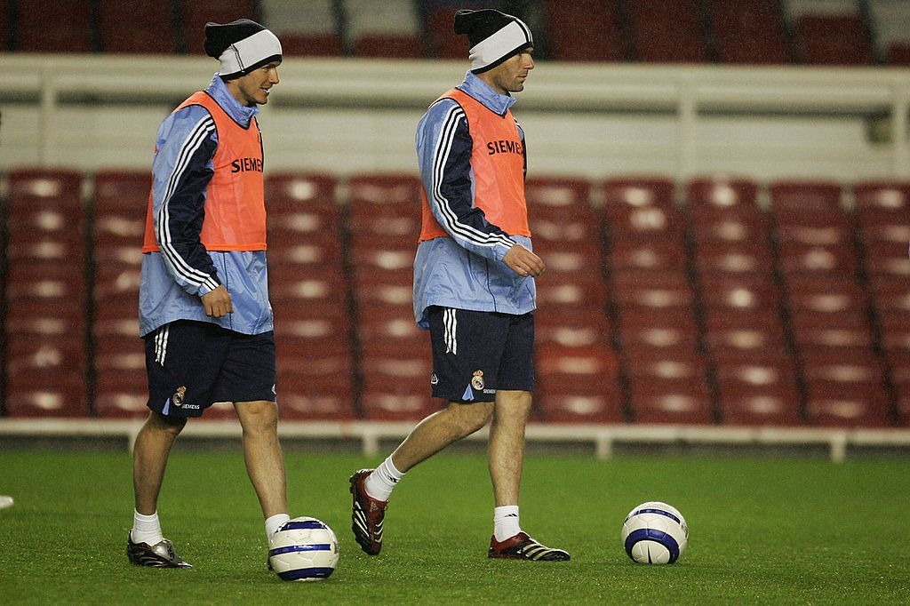 David Beckham dan Zinedine Zidane