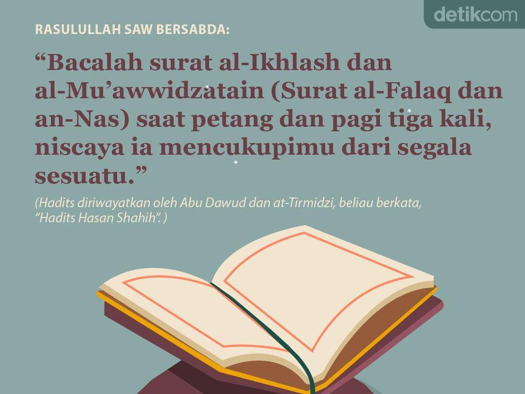 Keutamaan Baca surat al-Ikhlash Serta al-Muawwidzatain Pagi dan Petang