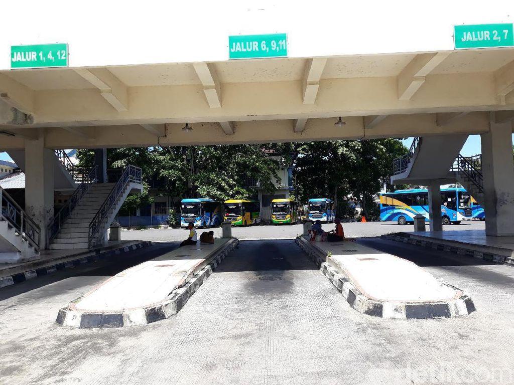 Boleh Beroperasi, Baru Bus AKAP Yogya-Solo yang Masuk Terminal Giwangan Yogya
