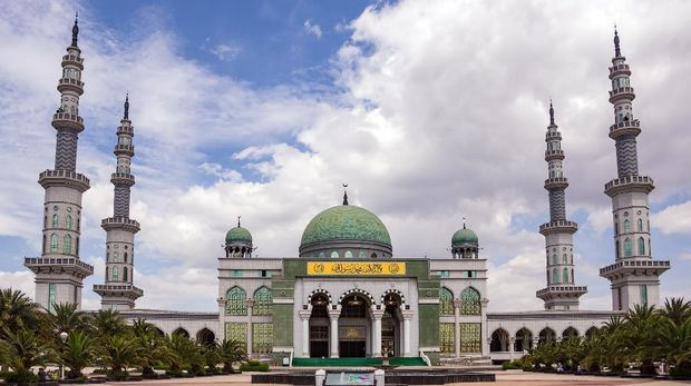 Grand Mosque of Shadian - Gejiu ,Yunnan, China. The Largest Mosque in East Asia