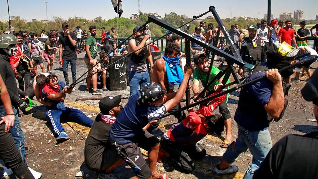 Aksi Unjuk Rasa Tolak Perdana Menteri Baru Irak