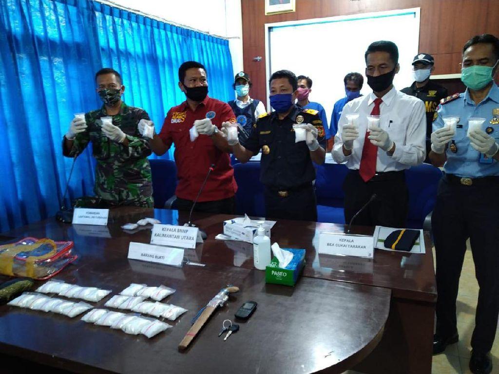 Sempat Kabur Pakai Speed Boat, Penyelundup 2 Kg Sabu dari Malaysia Ditangkap
